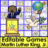 Martin Luther King, Jr. Sight Word Game Boards - Set 1  EDITABLE for Any List!