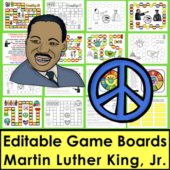Martin Luther King, Jr. Friendship Sight Words Game Boards-Last 118 Dolch