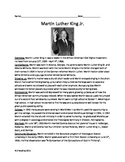 Martin Luther King Jr Full History Review article questions vocab activities