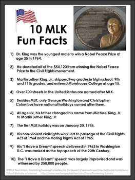 Free Download Martin Luther King Jr Day Fun Facts For Black History