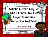 Martin Luther King, Jr. GATE Frame & Five Finger Summary Accordion Book Freebie