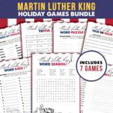 Martin Luther King Jr Games Bundle   Printable & Fillable PDF Games