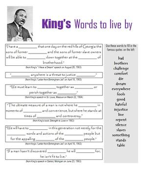 Martin Luther King, Jr:  Games and Printables in Honor of a Civil Rights Leader