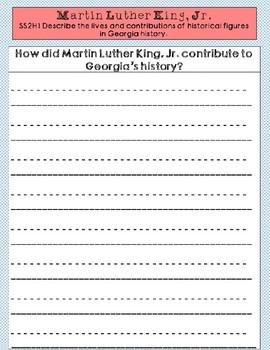 Martin Luther King Jr. Graphic Organizer Set