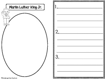 FREE Martin Luther King Jr.  Graphic Organizers