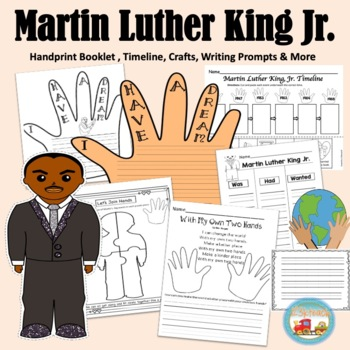 Martin Luther King Jr. Hand Print Book, Writing Prompts, & More