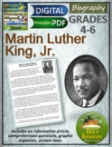 Martin Luther King Jr. Biography Reading Comprehension - Print and Digital