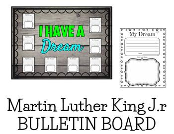 Martin Luther King Jr. I Have A Dream Bulletin Board and Activity