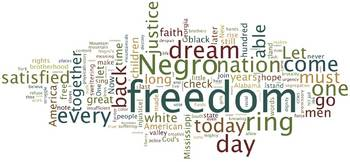 Martin Luther King, Jr. I Have A Dream Speech Wordle Visual Aid