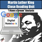 Martin Luther King Jr. I Have a Dream Close Read Digital Google Resource