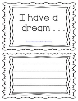 Martin Luther King, Jr. I Have a Dream Craftivity