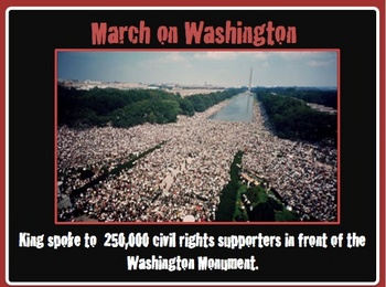 """Martin Luther King Jr. """"I Have a Dream"""" Power Point lesson and quiz"""