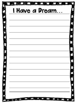 Martin Luther King Jr. I Have a Dream Writing Craftivity