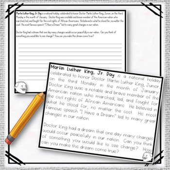 Martin Luther King, Jr. I Have a Dream Writing Prompt FREEBIE