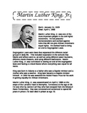 Martin Luther King, Jr. Information and Reading Comprehension