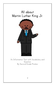 Martin Luther King Jr. Informational Booklet with Vocabulary and Questions