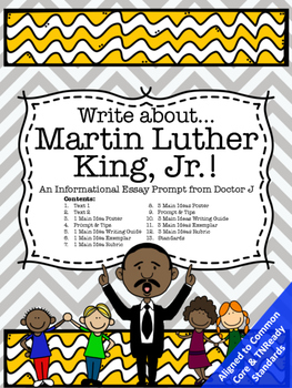Martin Luther King Jr Informational Essay Writing Prompt Common  Martin Luther King Jr Informational Essay Writing Prompt Common Core  Aligned Business Ethics Essays also Essays Written By High School Students  Collaborative Writing Online