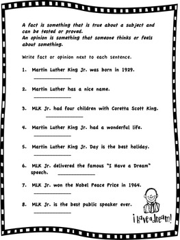Martin Luther King Jr. Informational Text