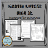 Martin Luther King Jr. Informational Text, Questions, and Crossword Activity!