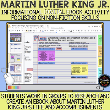 Martin Luther King Jr. Informational eBook Activity: Non-fiction Skills Focus