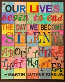 Martin Luther King Jr. - Collaborative, Ready-To-Color, 35-Piece Art Poster!