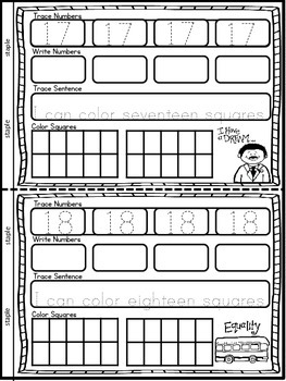 Martin Luther King, Jr. Interactive Counting Books (Numbers 0-10 & 11-20)