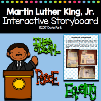 Martin Luther King Jr Interactive Lapbook Storyboard Activity Mlk