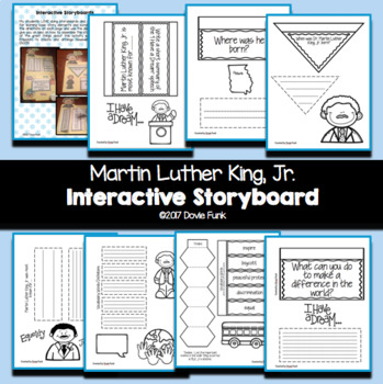 Luther King Jr Interactive Lapbook Storyboard Activity Mlk