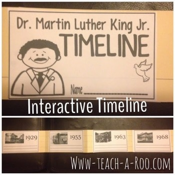 Martin Luther King Jr. Interactive Timeline and Caption Activity
