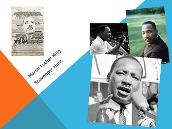 Martin Luther King Jr.  Internet Scavenger Hunt
