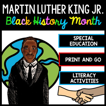 Martin Luther King - Special Education - Reading - Writing - Black History Month