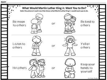 Martin Luther King Jr Worksheets Kindergarten