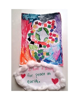 Martin Luther King Jr. Klimt Inspired Mosaic Peace Flowers