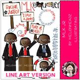 Martin Luther King Jr by Melonheadz LINE ART