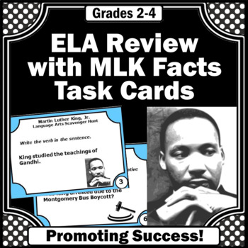 Martin Luther King, Jr. Day Language Arts Review Games, ELA Centers