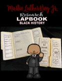 Martin Luther King Jr. Lapbook Research Black History Month lesson