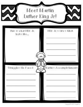Martin Luther King Jr. Learning Mini Unit