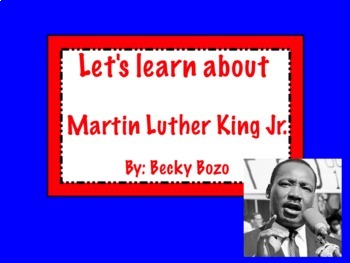 Martin Luther King Jr. Lesson