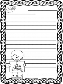 Martin Luther King Jr Letter Writing Templates By Mrs Finn Tpt