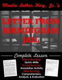Martin Luther King, Jr: Letter from Birmingham Jail + Ethos, pathos, & logos