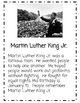 Martin Luther King Jr. Close Reading Leveled Biographies