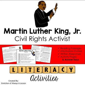 Martin Luther King Jr (MLK) Literacy Activities