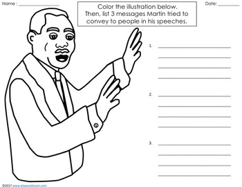 Martin Luther King Jr (MLK) Literacy Activities for Black History Month
