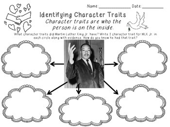 Martin Luther King Jr. Literacy Activity Bundle