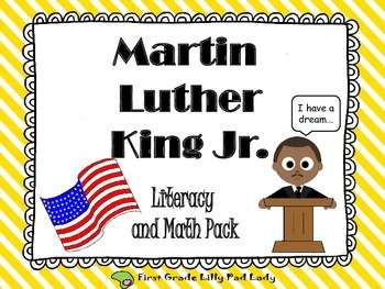 Martin Luther King Jr. Literacy & Math Centers and Printables Pack