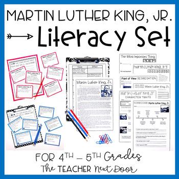 Martin Luther King, Jr. Literacy Set for 4th - 5th Grade