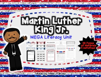 Martin Luther King Jr. MEGA Literacy Bundle with FREEBIE