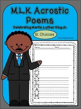Dr. Martin Luther King Jr. (MLK) Acrostic Poems~Poetry