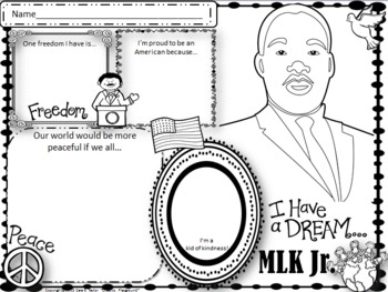 Martin Luther King Jr. (MLK) Activity Mat