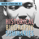 Martin Luther King Jr: MLK Biography Summary Webquest (PDF